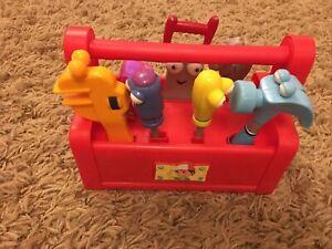Rare Mattel 2007 Disney Handy Manny Singing Moving Talking Toolbox With Tools