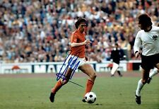 Johan CRUYFF Signed Autograph 12x8 Photo AFTAL COA Holland World Cup Image K