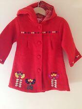 Filles marque française DP AM hiver laine manteau taille 18 mois 81 cm Bnwt
