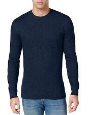 $46 New Tall Mens Club Room Crew Neck Navy Blue Long Sleeve Tee T Shirt 4XLT
