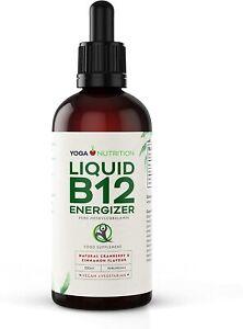Yoga Nutrition Liquid Vitamin B12 ENERGIZER Methylcobalamin 100ml Bottle - Vegan