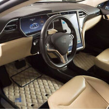 Leather Car Floor Mats Luxury Bespoke Fully Tailored Fit Tesla Model S 2013-