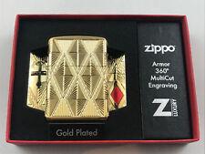 Zippo Armor case Diamond oro plated encendedor multicut profundidades grabado - 60004308