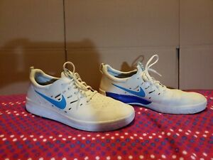 nike sb nyjah WHITE /PURPLE/BABY BLUE  SIZE 10.5 MEN'S