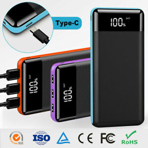 Powerbank 500000mAh Externer Batterie Ladegerät 3USB Zusatz Akku für alle Handys