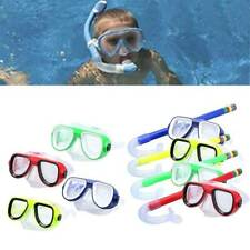 Kids Underwater Swimming Scuba Diving Mask Anti Fog Goggles Snorkeling Tube Sets