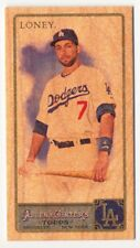 2011 Topps Allen and Ginter Mini Wood JAMES LONEY Rare Los Angeles Dodgers #1/1