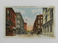 Vintage Postcard Chestnut St Looking East Meadville PA