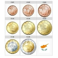1x Série 1 cent à 2 euro Chypre 2017 (8 pièces) (neuves UNC)