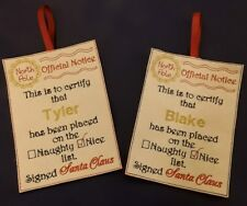 North Pole Official Notice  Personalised free of charge