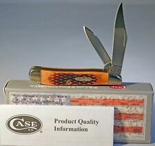 CASE XX Checkered Chestnut Jigged Peanut Knife New
