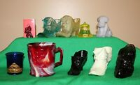 Lot (10) Piece Collectable Glass Degenhart, Imperial Glass , Mosser, & Other