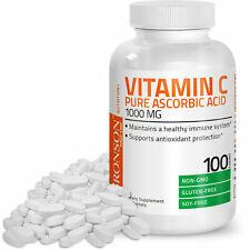 Vitamin C 1000 mg Premium Non-GMO Gluten Free Ascorbic Acid, 100 Tablets