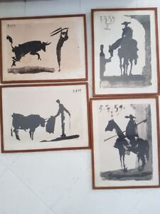 Pablo Picasso 4 reproductions Lithography