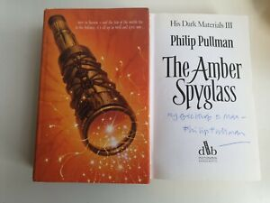 **SIGNED** Philip Pullman The Amber Spyglass Hardback UK His Dark Materials 3