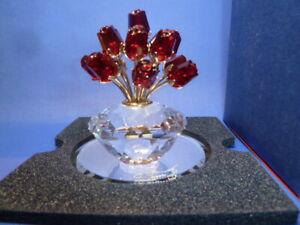 Swarovski Vase mit Roten Rosen SCS Vase of Roses 283394 AP 2002