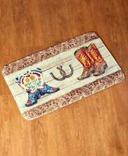 Western Wear Bathroom Rug Carpet Cowboy Boots