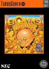 Bonk'S ADVENTURE Turbo Grafx 16 incorniciato stampa (Man Grotta Foto GAME GIOCO ART)