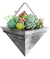 Wall Hanging Planter Triangle Pot - Plant Holder-Home Decor Rustic Wood