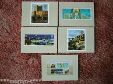 PHQ Stamp card set CGB3 Celebrating N Ireland, 2008. 5 card set. Mint Condition