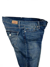 Levis Womens 524 Too Superlow Blue Jeans Flare Distressed Faded Whisker Size 7 M