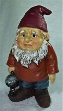 26cm Grumpier Garden Gnome Statue Figurine GNOMEG - G Polyresin ****LAST ONE****