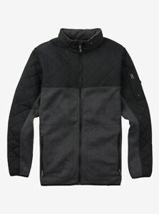Burton Men's Pierce Fleece Hoodie True Black Heather 1 Size Small NEW With Tags