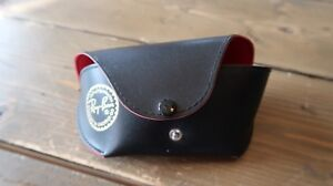 Vintage Black and Red RAY BAN by Luxottica Sunglass Case