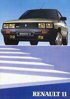 Renault 11 Prospekt 1985 Autoprospekt brochure broschyr brosjyre folheto folleto