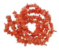 100 Nugget Coralle Perlen 8mm - 13mm Natur Schmucksteine Edelstein 1 strang G853