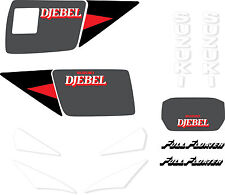 SUZUKI DR 650 Djebel 1990 (rouge) STICKER decal