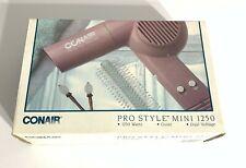 Vintage 1989 Conair Pro Style Mini 1250 Hair Dryer New in Original Box Sealed