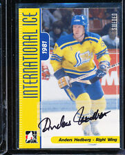2006-07 ITG INTERNATIONAL ICE ANDERS HEDBERG AUTO SWEDEN AUTOGRAPH