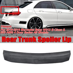 WD W Style HighKick Rear Trunk Spoiler For 10-16 Mercedes Benz W212 E350 E63 AMG