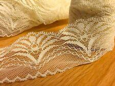 CraftbuddyUs Vl7C 20mx 50mm Ivory Cream Vintage Lace Bridal Wedding Trim Ribbon