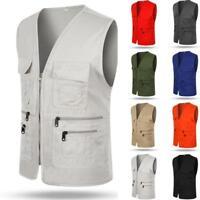 Multi Pocket Photography Director Tops Travelers Fishing Outdoor Vest Sale Men's