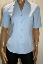 Rockmans Brand Blue Short Sleeve Button Down Blouse Top Size 10 BNWT #TQ70