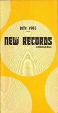 THE NEW RECORDS record catalogue 404 july 1985 peter gabriel mick jagger sting