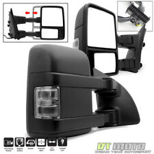 Left+Right 2008-16 F250 F350 Super Duty Power Heated SMOKE LED Signal Tow Mirror