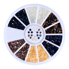Nail Chameleon Rhinestone 2mm Flat Bottom Manicure 3D Nail Art Decoration DIY