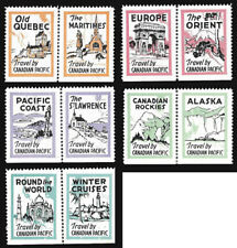 1938 Canadian Pacific Travel Series - complete set 10 mint never hinged