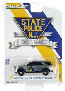 Chase 2021 FORD NEW JERSEY POLICE ANNIVERSARY 1/64 GREENLIGHT 28060 F