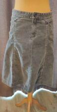 Gap Cord Grey Knee Length Skirt Size 12