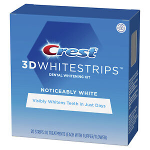 Crest 3D White Strips Noticeably White Teeth Dental Whitening Kit Whitens