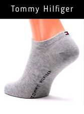 4 Pairs of Tommy Hilfiger Sneaker Basic Ankle Socks Grey UK Size 2.5 - 5