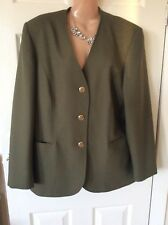 Eastex Khaki Short Fitted Ladies Jacket Size 16 Immac Cond Hols 29/8 To 6/9