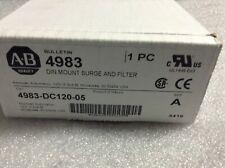 Allen-Bradley 4983-DC120-05 Din Mount Surge & Filter Brand New
