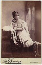 *GREAT TRAGIC ACTRESS ADELAIDE NEILSON 1880 NAPOLEON SARONY CABINET PHOTO*