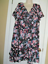 **LIBERTY LOVE** Fully Lined Ruffled Dress Size ((2XL)) 100% Polyester. New/W/T