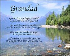 Personalizado Grandad Poema Día Del Padre Cumpleaños Regalo De Navidad Regalo